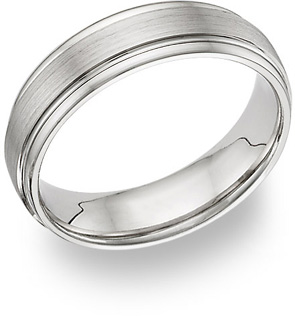 Platinum Brushed Wedding Band (Wedding Rings, Apples of Gold)