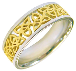 Buy Celtic Trinity Knot Band Ring – 14K Two-Tone Gold