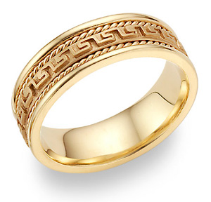 Buy Greek Key Design Wedding Band in 14K Yellow Gold