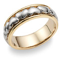 Eternal Heart Wedding Band Ring in 14K Two-Tone Gold
