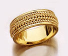 Design Wedding Band Ring - 14K Gold