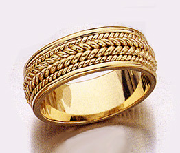 Design Wedding Band Ring - 14K Gold (Wedding Rings, Apples of Gold)