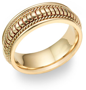 Designer Weddng Band in 18K Yellow Gold