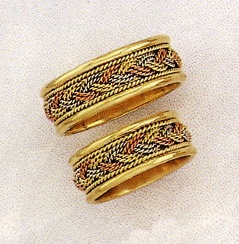 Buy Tri-Color Braided Wedding Band Ring – 14K Gold
