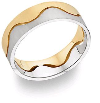 14K Two-Tone Gold Design Wedding Band