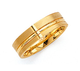 6.5mm Wedding Band Ring - 14K Gold
