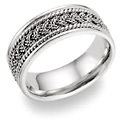 Platinum Mutli-Braided Design Wedding Band Ring