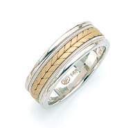 14K Two-Tone Gold Designer Wedding Band Ring