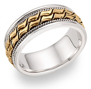 14K Two-Tone Design Wedding Band Ring