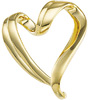 10K Yellow Gold Slide Heart Pendant