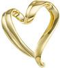 10K Yellow Gold Slide Heart Pendant