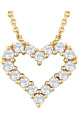 14K Yellow Gold 1/4 Diamond Heart Necklace