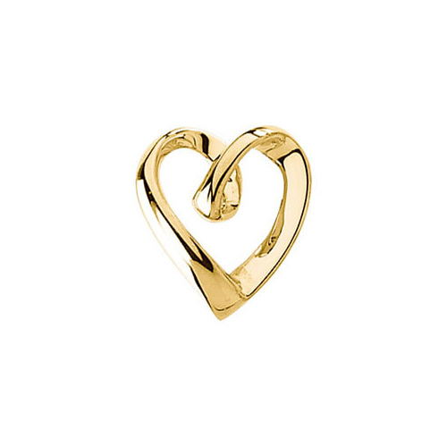 Gold Heart Slide Pendant