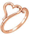 14K Rose Gold Free Formed Heart Ring