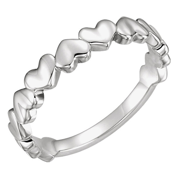 Sterling Silver Heart Band