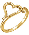 Freeform Heart Ring in 14K Yellow Gold