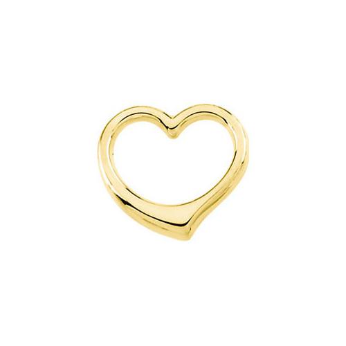 14K Gold Cut-Out Heart Slide Pendant