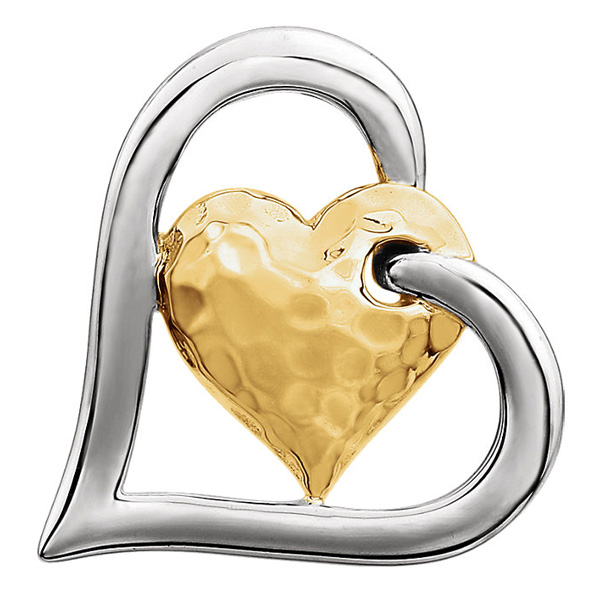 New Two-Tone Heart Jewelry