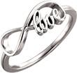 Infinity Love Ring in 14K White Gold