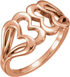 Interlocking 14K Rose Gold Heart Ring