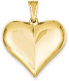 Large 14K Gold Heart Pendant