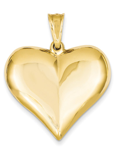 Large 14K Gold Heart Pendant