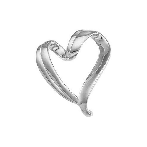 Sterling Silver Heart Slide Pendant