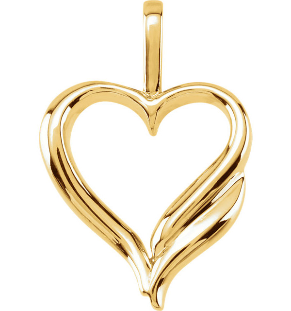 Yellow Gold Design Heart Pendant