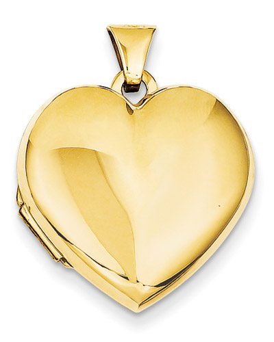 Family Heart Locket, 14K Yellow Gold