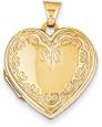 Victorian-Style Heart Locket in 14K Gold