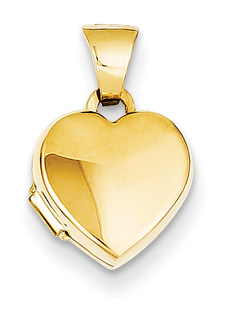 Small 14K Gold Heart Locket