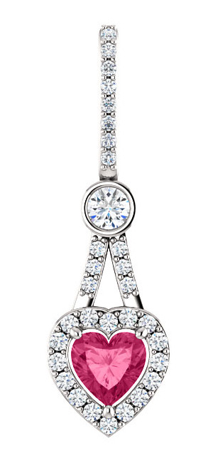 Swarovski Pure Pink Topaz Heart-Shaped Pendant, Sterling Silver