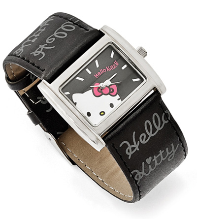 Hello Kitty Black Watch with Silver