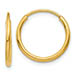 1.25mm Endless Hoop Earrings in 14K Gold