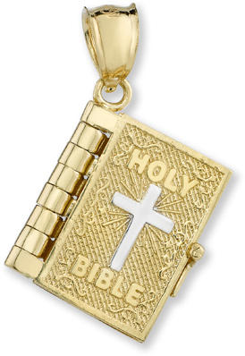 Bible Pendant with Lord's Prayer Inside