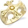 14K Gold Men's Ancient Cross Ring
