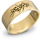 14K Gold Crown of Thorns Wedding Band