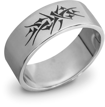 14K White Gold Crown of Thorns Ring