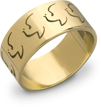 14K Gold Holy Spirit Dove Ring
