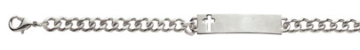 Stainless Steel Women's Cross ID Bracelet