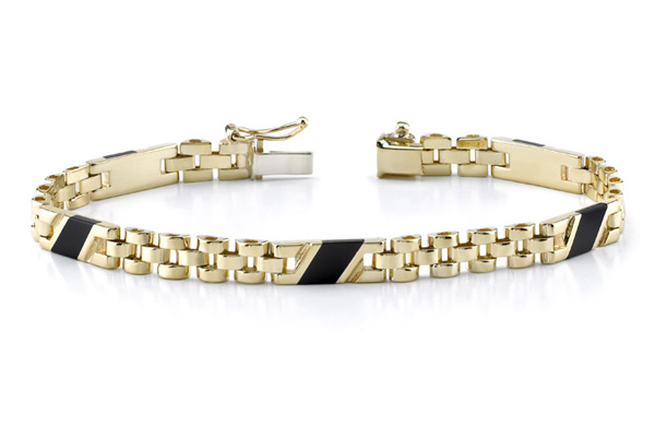 Buy 14K Gold Ladies' Design Onyx Bracelet