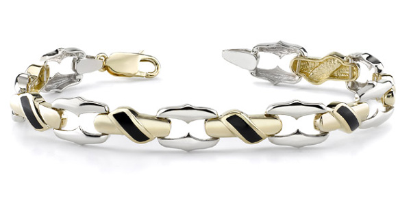 14K Gold Ladie's Onyx Design Bracelet