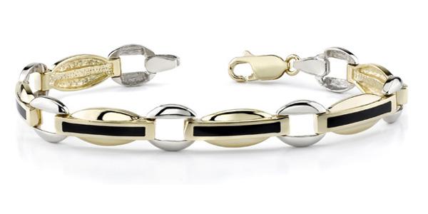 14K Gold Ladie's Onyx Bracelet
