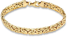Byzantine Bracelet, 14K Yellow Gold (7mm)