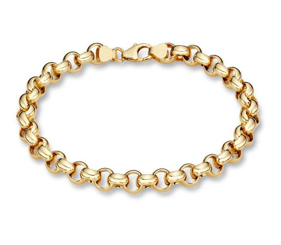 14K Gold Rolo Bracelet