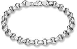 14K White Gold Rolo Bracelet