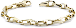Men's 14K Gold Angular Link Bracelet