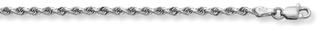 2.5mm Rope Bracelet, 14K White Gold