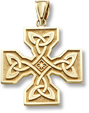 Celtic Cross Pendant, 14K Gold