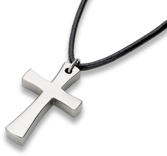 Titanium Cross Pendant, simple, versatile